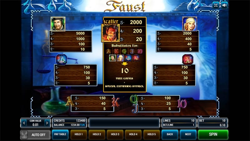Изображение игрового автомата Faust 3