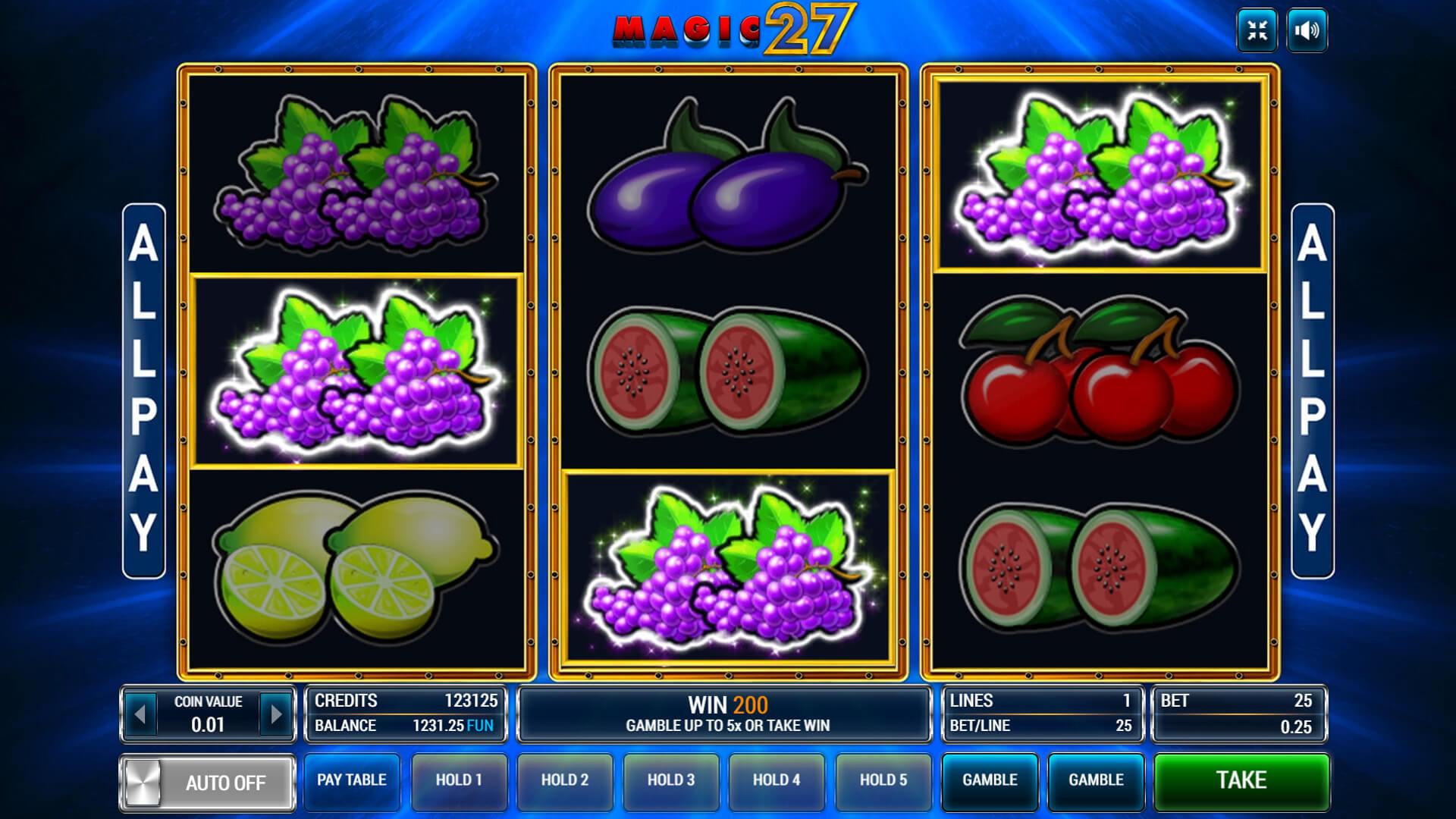 Изображение игрового автомата Magic 27 2