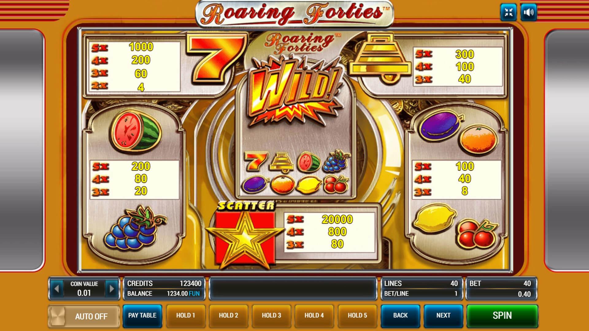 Изображение игрового автомата Roaring Forties 3