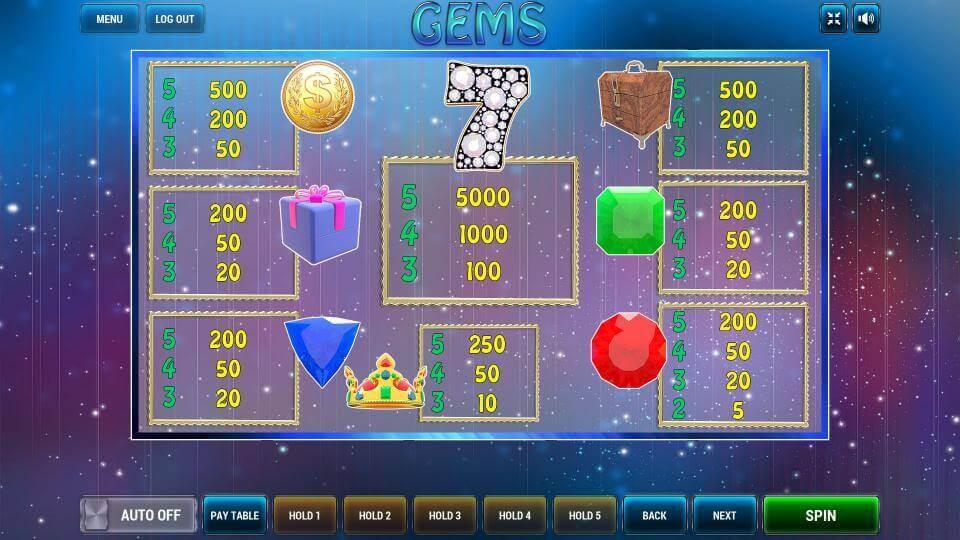 Изображение игрового автомата Gems 3