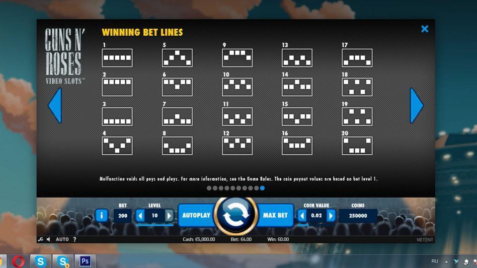 Изображение игрового автомата Guns n' Roses 3