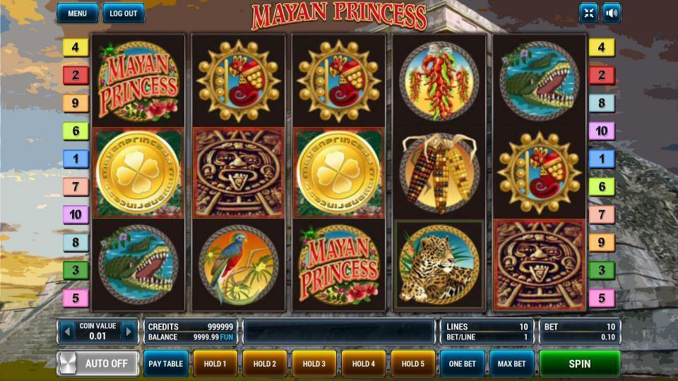 Изображение игрового автомата Mayan Princess 2