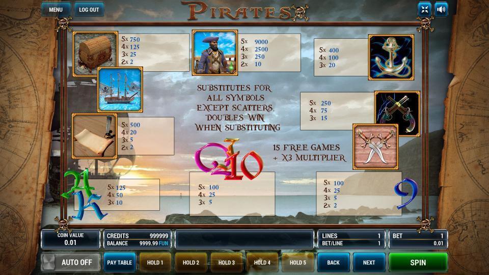 Изображение игрового автомата Pirates 3