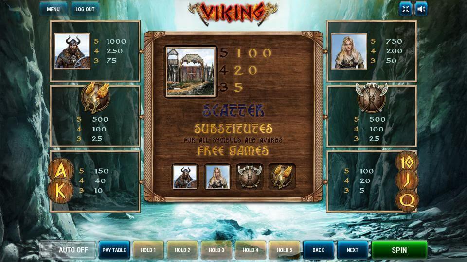 Изображение игрового автомата Viking 3
