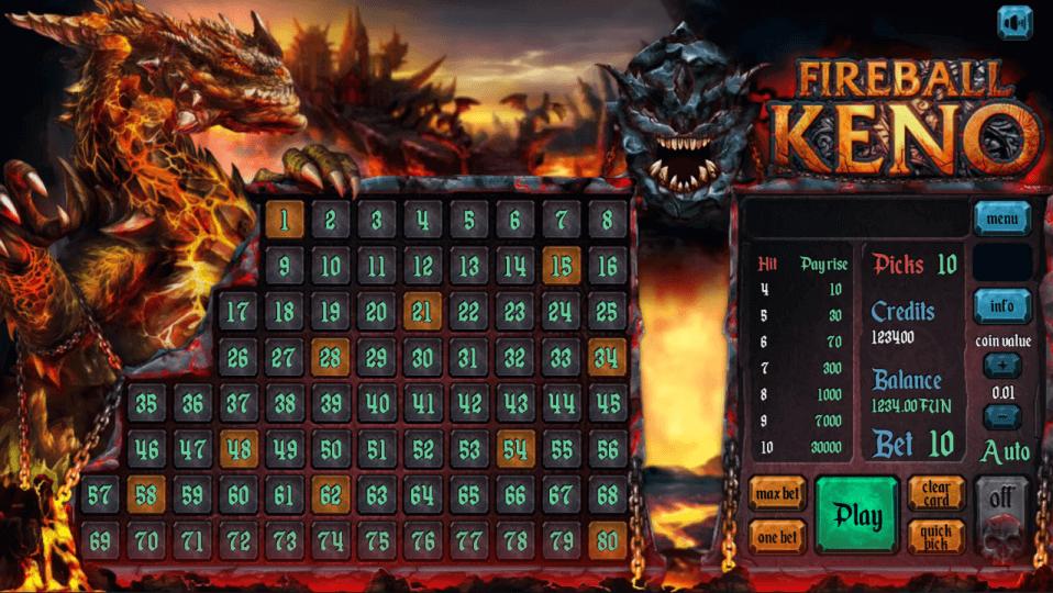 Изображение игрового автомата Keno FIREBALL 2