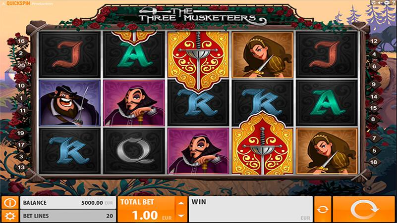 Изображение игрового автомата The Three Musketeers 1