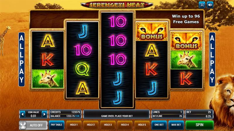 Изображение игрового автомата Serengeti Heat 1