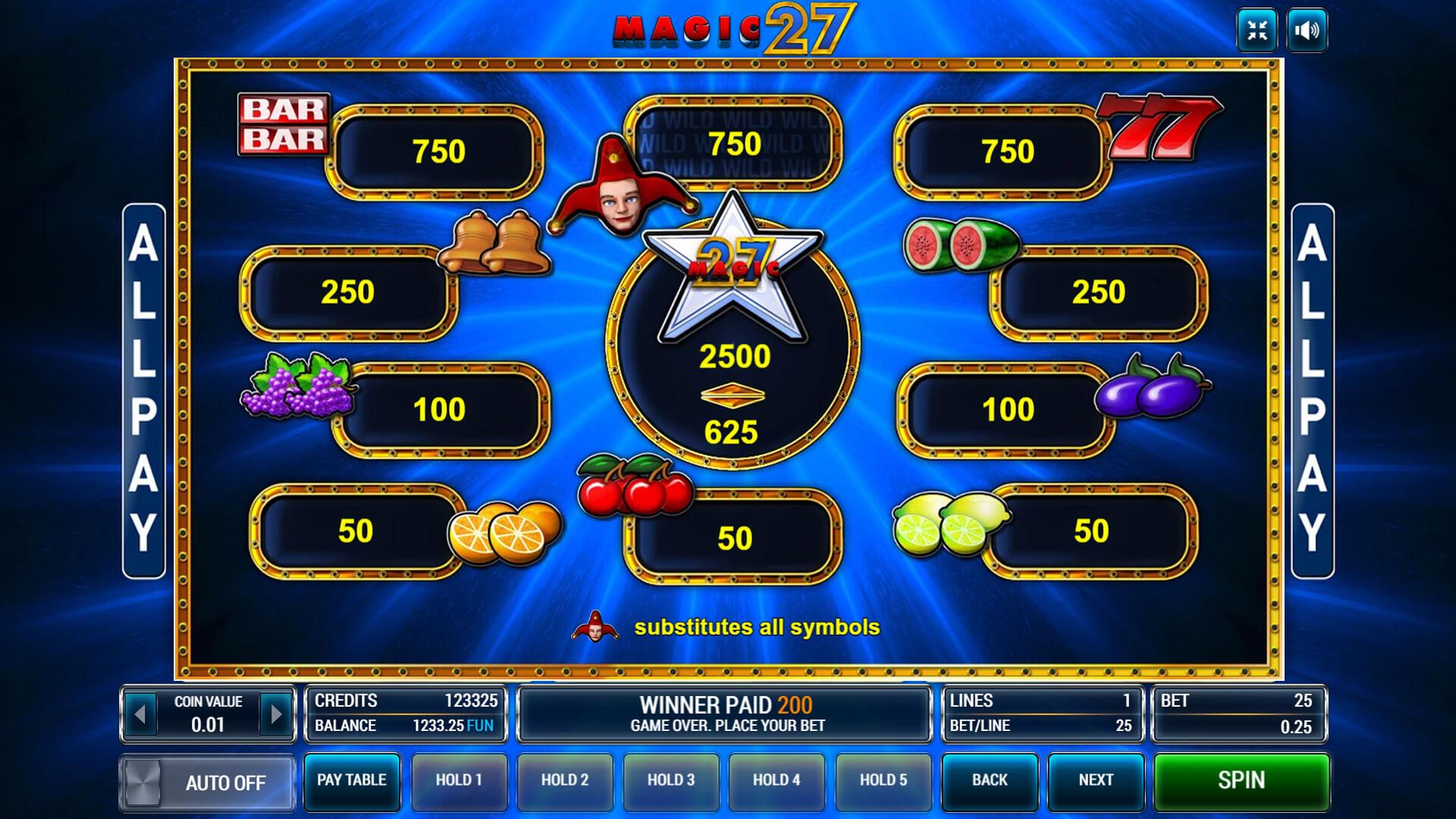 Изображение игрового автомата Magic 27 3