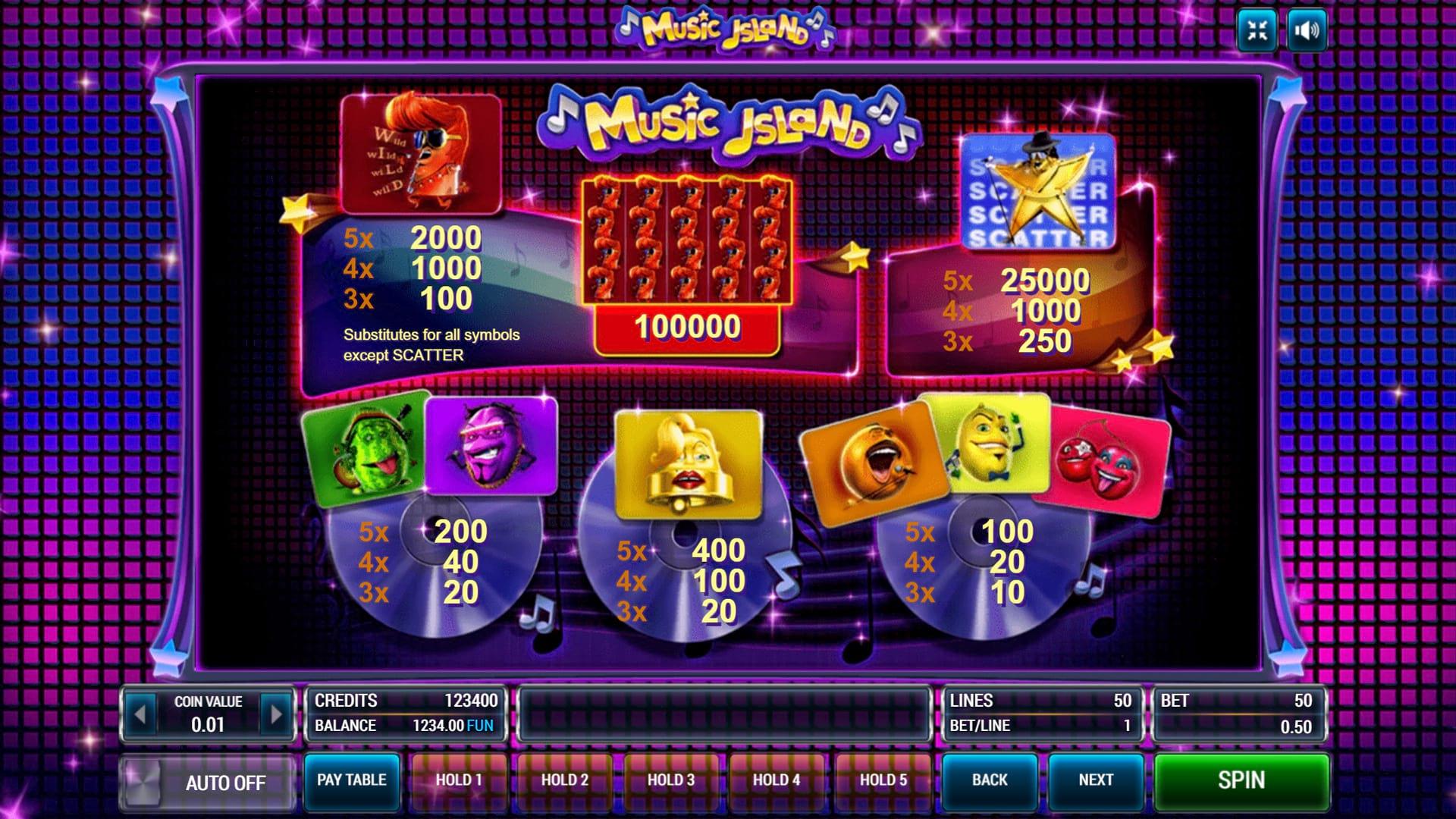 Изображение игрового автомата Music Island 3