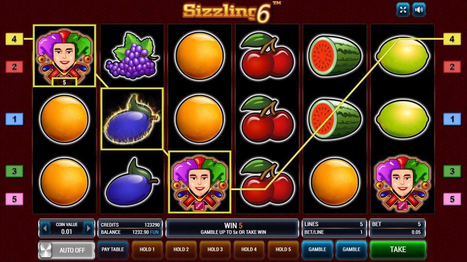 Изображение игрового автомата Sizzling 6 1