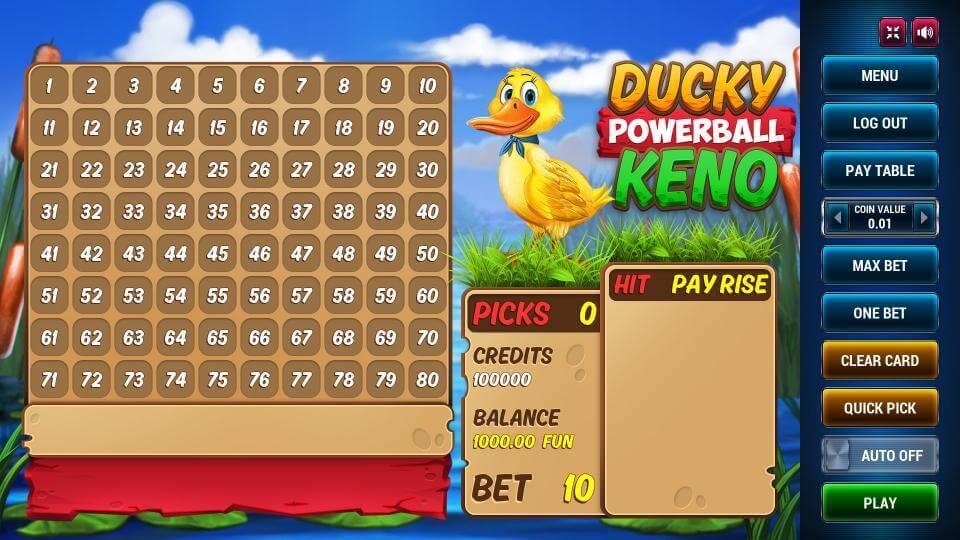 Изображение игрового автомата Ducky Keno Powerball 1