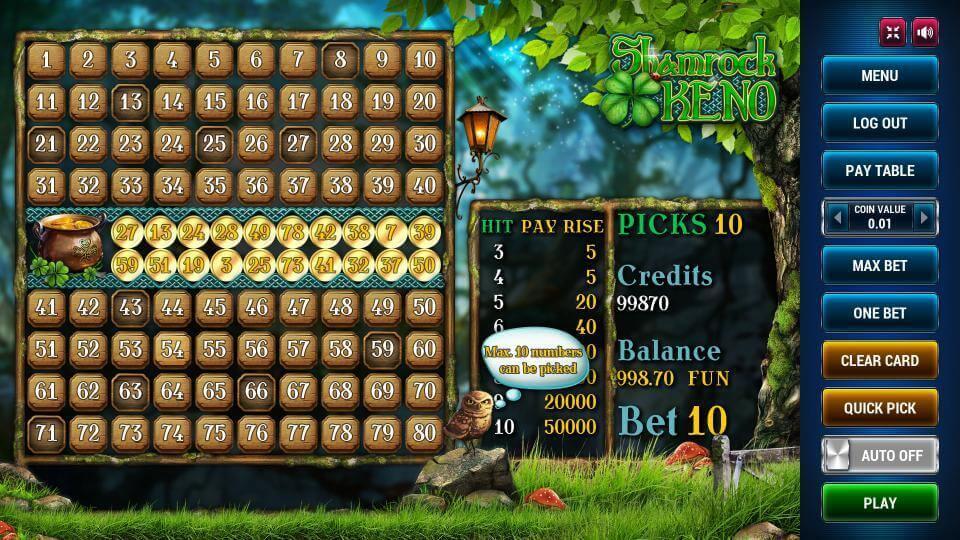 Изображение игрового автомата Keno Shamrock 2