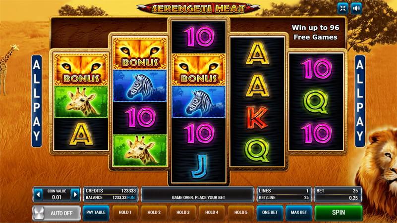 Изображение игрового автомата Serengeti Heat 3