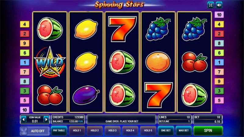 Изображение игрового автомата Spinning Stars 3