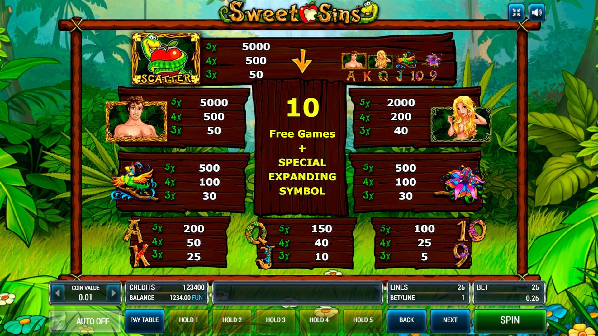 Изображение игрового автомата Sweet Sins 3