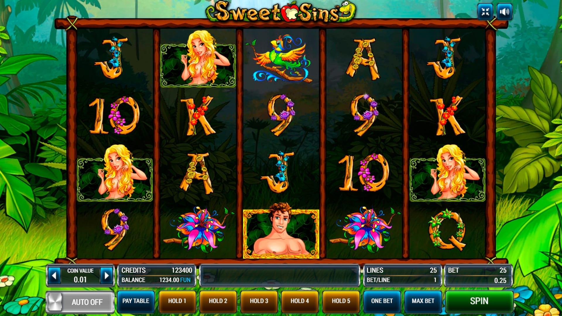 Изображение игрового автомата Sweet Sins 1